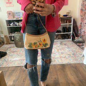 Handbags - straw baguette bag